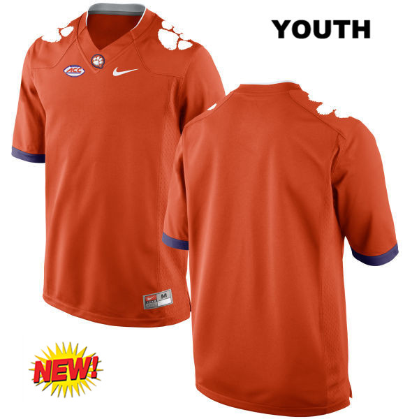 Nike Blank Clemson Tigers New Style blank Stitched Youth Orange Authentic College Football Jersey - Blank Jersey