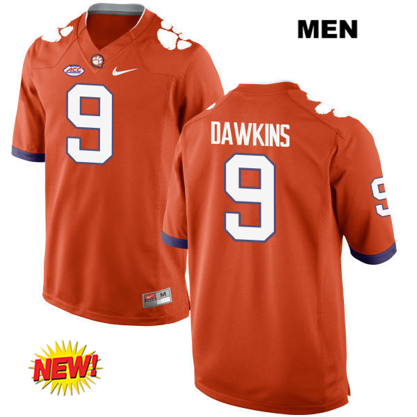 huge discount 55571 72773 Brian Dawkins Jr. New Style Clemson Tigers Stitched no. 9 Mens Nike Orange  Authentic College Football Jersey