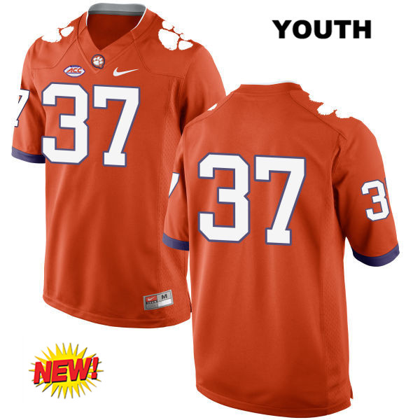 Cameron Scott Clemson Tigers Nike no. 37 Youth New Style Orange Stitched Authentic College Football Jersey - No Name - Cameron Scott Jersey