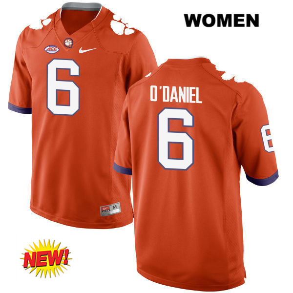 Dorian O'Daniel New Style Stitched Clemson Tigers no. 6 Nike Womens Orange Authentic College Football Jersey - Dorian O'Daniel Jersey