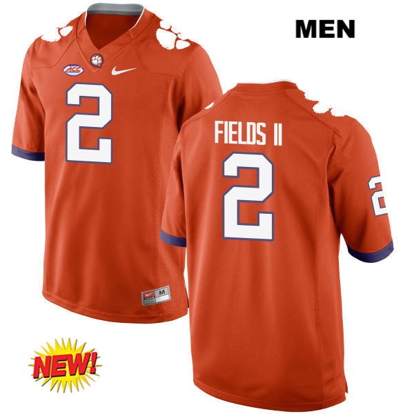 New Style Mark Fields Clemson Tigers no. 2 Mens Stitched Orange Nike Authentic College Football Jersey - Mark Fields Jersey