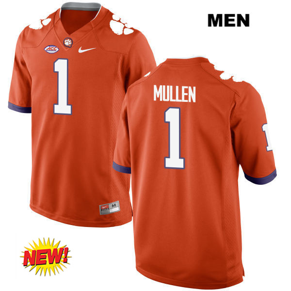 Trayvon Mullen Clemson Tigers no. 1 Stitched Nike Mens Orange New Style Authentic College Football Jersey - Trayvon Mullen Jersey