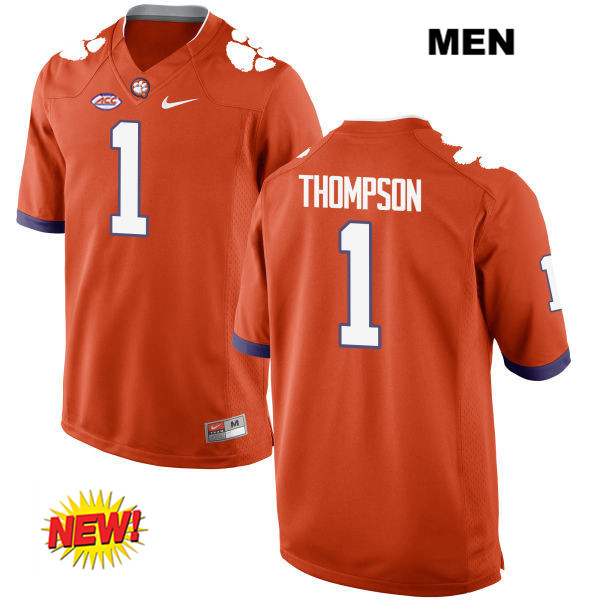 Trevion Thompson Clemson Tigers Nike New Style no. 1 Stitched Mens Orange Authentic College Football Jersey - Trevion Thompson Jersey
