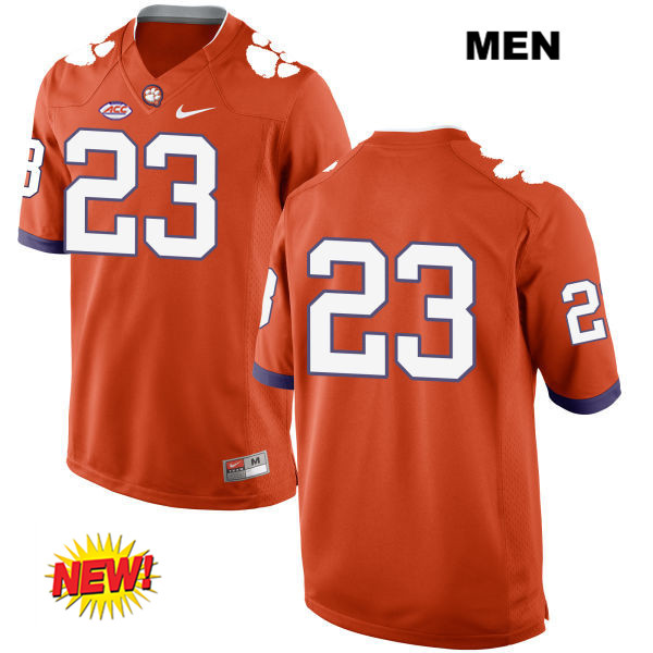 Van Smith Stitched Clemson Tigers Nike no. 23 New Style Mens Orange Authentic College Football Jersey - No Name - Van Smith Jersey