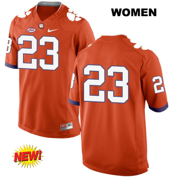Van Smith Nike Clemson Tigers no. 23 Womens New Style Stitched Orange Authentic College Football Jersey - No Name - Van Smith Jersey