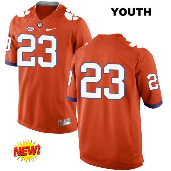 Stitched Van Smith Clemson Tigers New Style no. 23 Nike Youth Orange Authentic College Football Jersey - No Name - Van Smith Jersey