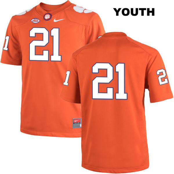 Adrian Baker Nike Clemson Tigers no. 21 Stitched Youth Orange Authentic College Football Jersey - No Name - Adrian Baker Jersey