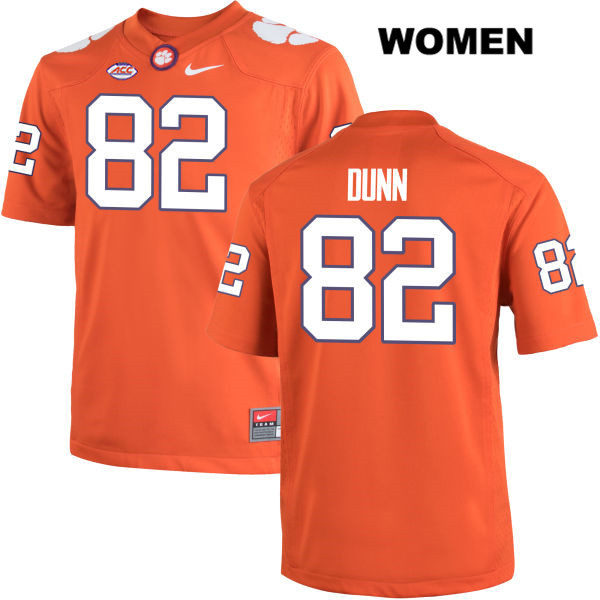 Adrien Dunn Clemson Tigers no. 82 Stitched Womens Nike Orange Authentic College Football Jersey - Adrien Dunn Jersey