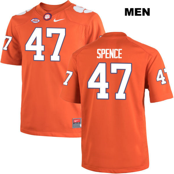 Alex Spence Clemson Tigers no. 47 Nike Mens Orange Stitched Authentic College Football Jersey - Alex Spence Jersey