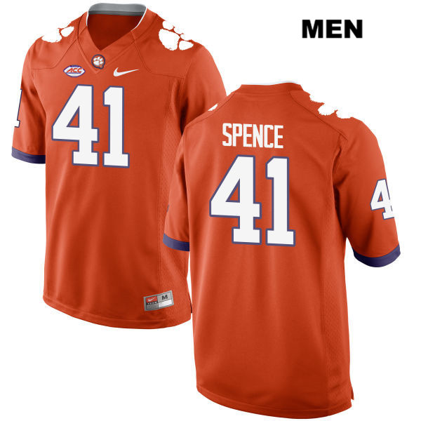 Style 2 Alex Spence Clemson Tigers no. 41 Nike Mens Stitched Orange Authentic College Football Jersey - Alex Spence Jersey