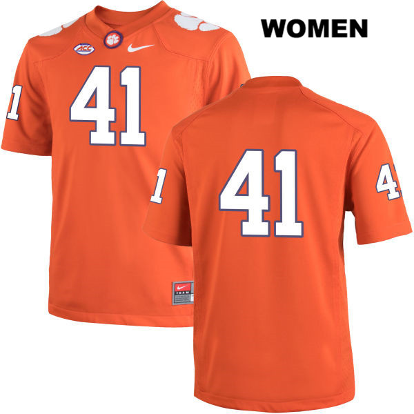 Alex Spence Clemson Tigers Stitched no. 41 Womens Nike Orange Authentic College Football Jersey - No Name - Alex Spence Jersey