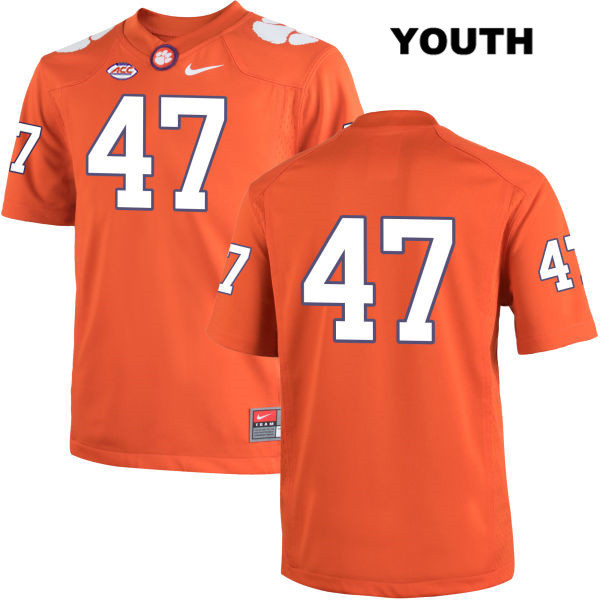 Alex Spence Clemson Tigers no. 47 Youth Stitched Orange Nike Authentic College Football Jersey - No Name - Alex Spence Jersey