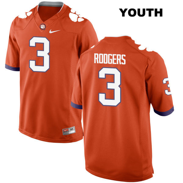 Amari Rodgers Clemson Tigers Stitched no. 3 Youth Orange Nike Authentic College Football Jersey - Amari Rodgers Jersey
