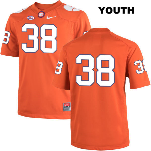 Amir Trapp Clemson Tigers Stitched no. 38 Nike Youth Orange Authentic College Football Jersey - No Name - Amir Trapp Jersey