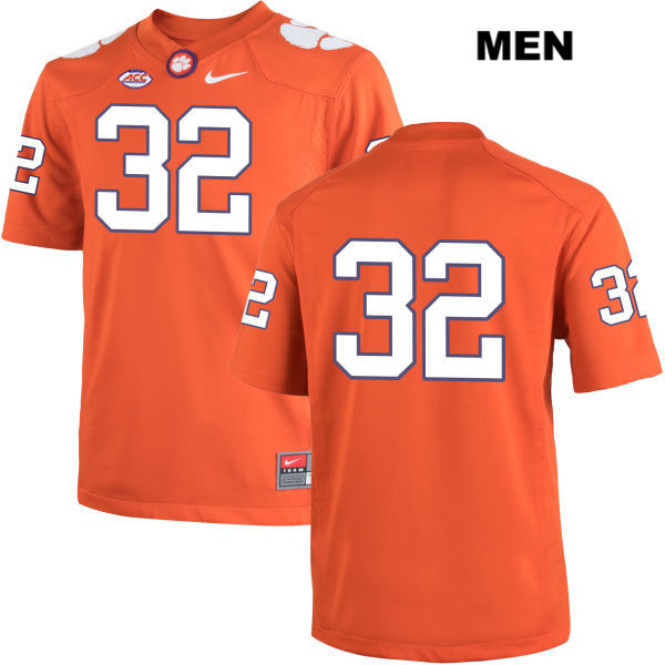 Andy Teasdall Nike Stitched Clemson Tigers no. 32 Mens Orange Authentic College Football Jersey - No Name - Andy Teasdall Jersey
