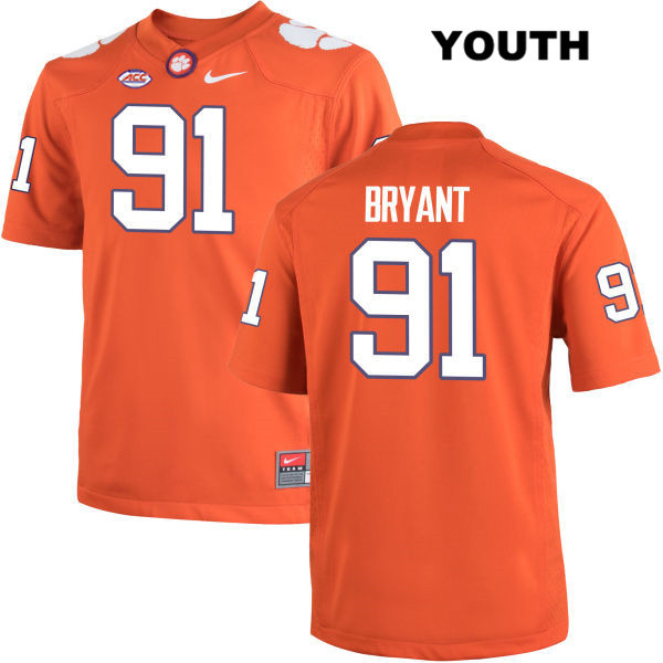 Austin Bryant Stitched Clemson Tigers Nike no. 91 Youth Orange Authentic College Football Jersey