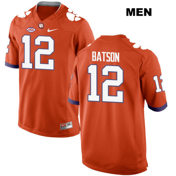Ben Batson Stitched Clemson Tigers no. 12 Mens Nike Style 2 Orange Authentic College Football Jersey - Ben Batson Jersey
