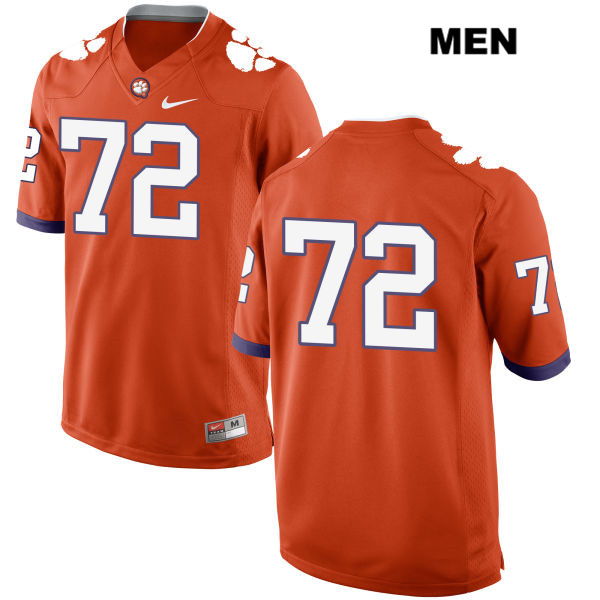 Blake Vinson Clemson Tigers Nike no. 72 Stitched Mens Orange Authentic College Football Jersey - No Name - Blake Vinson Jersey