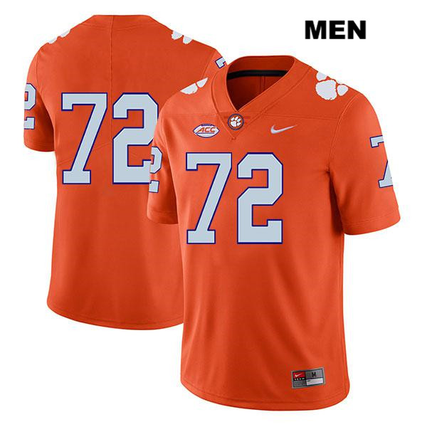 Blake Vinson Legend Clemson Tigers Stitched no. 72 Mens Nike Orange Authentic College Football Jersey - No Name - Blake Vinson Jersey