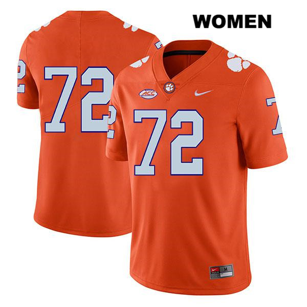 Legend Blake Vinson Nike Clemson Tigers no. 72 Womens Stitched Orange Authentic College Football Jersey - No Name - Blake Vinson Jersey