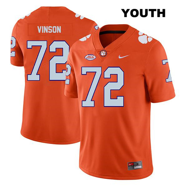 Blake Vinson Legend Clemson Tigers no. 72 Nike Youth Stitched Orange Authentic College Football Jersey - Blake Vinson Jersey