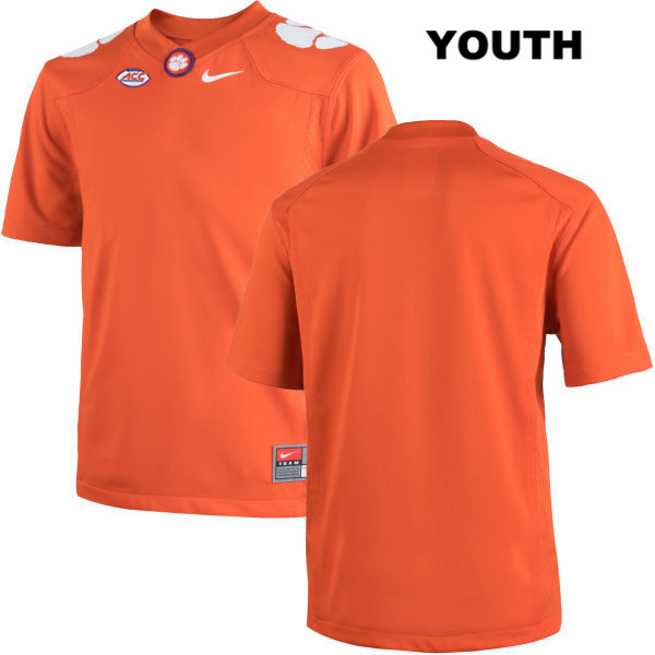 Blank Clemson Tigers blank Youth Nike Orange Stitched Authentic College Football Jersey - Blank Jersey