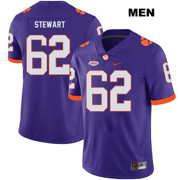 Cade Stewart Nike Clemson Tigers Legend no. 62 Stitched Mens Purple Authentic College Football Jersey - Cade Stewart Jersey
