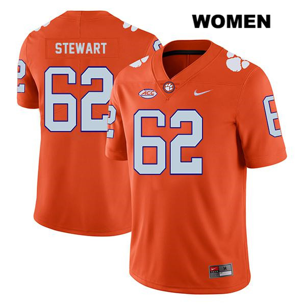 Cade Stewart Clemson Tigers Legend no. 62 Womens Stitched Orange Nike Authentic College Football Jersey - Cade Stewart Jersey