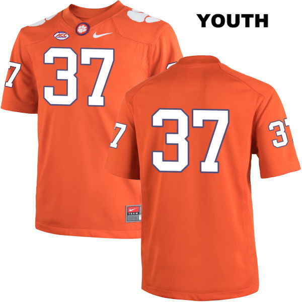 Cameron Scott Nike Clemson Tigers no. 37 Youth Stitched Orange Authentic College Football Jersey - No Name - Cameron Scott Jersey