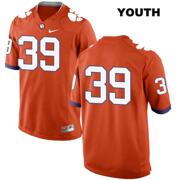 Cameron Scott Nike Clemson Tigers no. 39 Stitched Youth Orange Authentic College Football Jersey - No Name - Cameron Scott Jersey