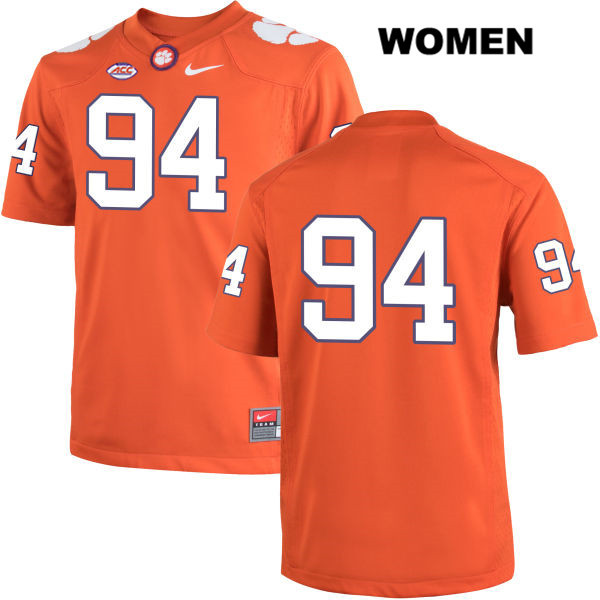 Nike Carlos Watkins Clemson Tigers no. 94 Womens Stitched Orange Authentic College Football Jersey - No Name - Carlos Watkins Jersey