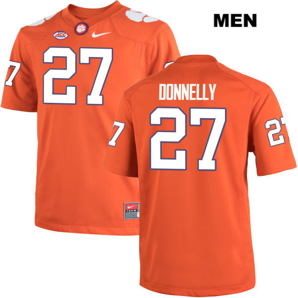 Carson Donnelly Clemson Tigers no. 27 Stitched Mens Orange Nike Authentic College Football Jersey - Carson Donnelly Jersey