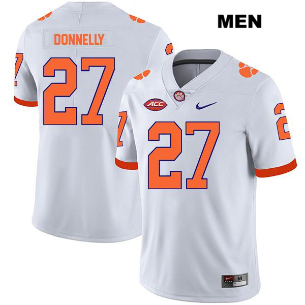 Carson Donnelly Legend Clemson Tigers Nike no. 27 Mens Stitched White Authentic College Football Jersey - Carson Donnelly Jersey