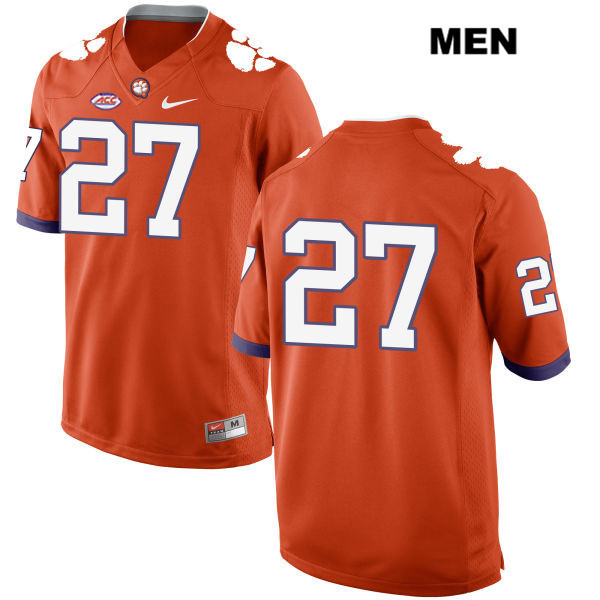 Carson Donnelly Clemson Tigers no. 27 Nike Mens Stitched Orange Style 2 Authentic College Football Jersey - No Name - Carson Donnelly Jersey