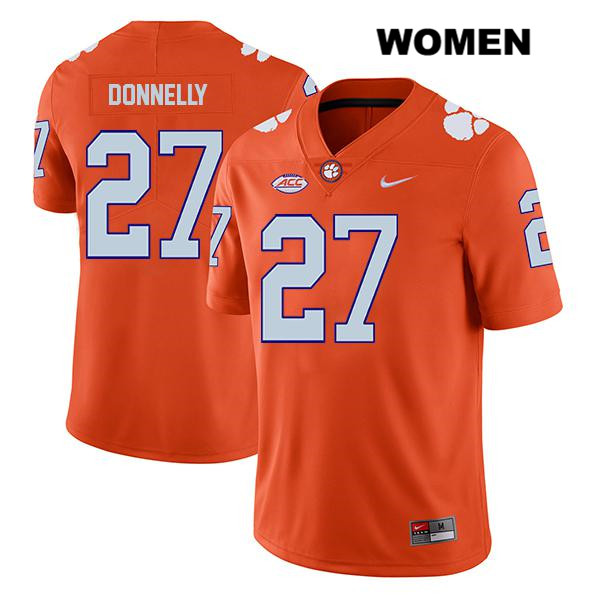 Carson Donnelly Legend Nike Clemson Tigers no. 27 Womens Stitched Orange Authentic College Football Jersey - Carson Donnelly Jersey