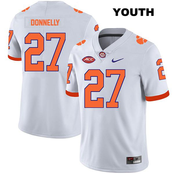 Legend Carson Donnelly Clemson Tigers Nike no. 27 Youth White Stitched Authentic College Football Jersey - Carson Donnelly Jersey