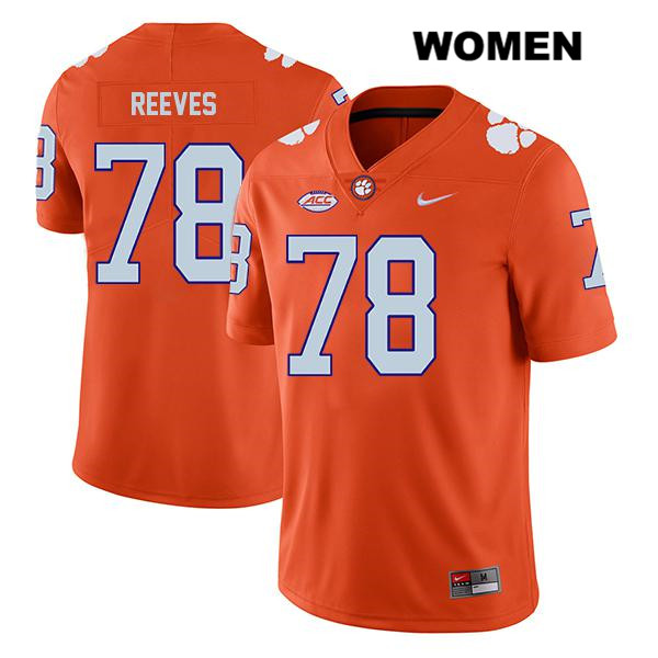 Chandler Reeves Clemson Tigers no. 78 Nike Womens Legend Orange Stitched Authentic College Football Jersey - Chandler Reeves Jersey