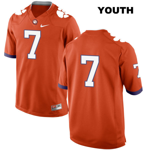 Chase Brice Clemson Tigers Nike no. 7 Youth Orange Stitched Authentic College Football Jersey - No Name - Chase Brice Jersey
