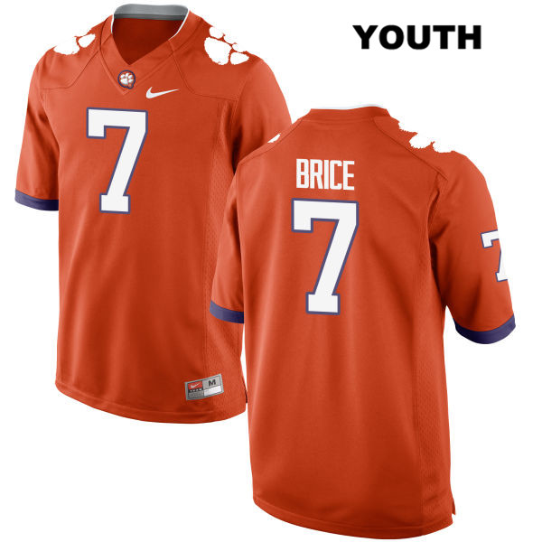 Stitched Chase Brice Clemson Tigers no. 7 Youth Nike Orange Authentic College Football Jersey - Chase Brice Jersey