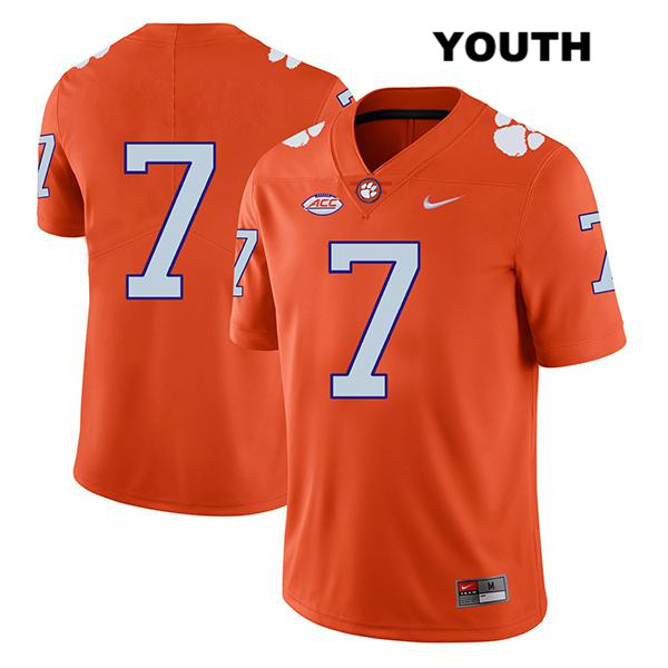Chase Brice Legend Clemson Tigers no. 7 Nike Youth Orange Stitched Authentic College Football Jersey - No Name - Chase Brice Jersey