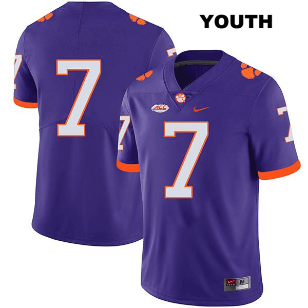 Chase Brice Nike Clemson Tigers no. 7 Youth Legend Purple Stitched Authentic College Football Jersey - No Name - Chase Brice Jersey