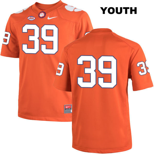 Christian Groomes Clemson Tigers no. 39 Nike Youth Orange Stitched Authentic College Football Jersey - No Name - Christian Groomes Jersey