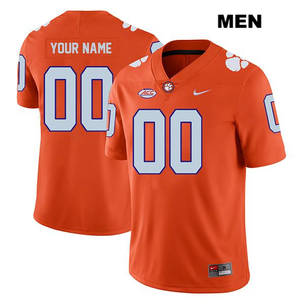 Customize Clemson Tigers Nike customize Mens Orange Legend Stitched Authentic College Football Jersey - Customize Jersey