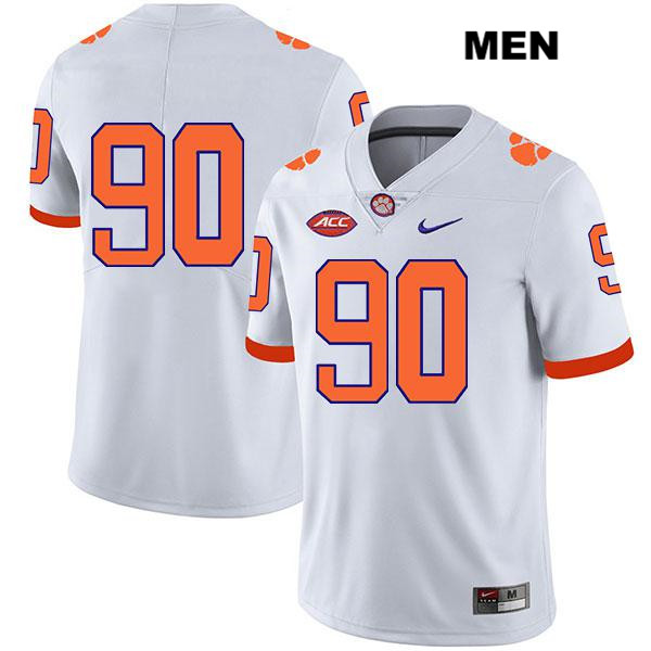 Darnell Jefferies Legend Stitched Clemson Tigers no. 90 Nike Mens White Authentic College Football Jersey - No Name - Darnell Jefferies Jersey