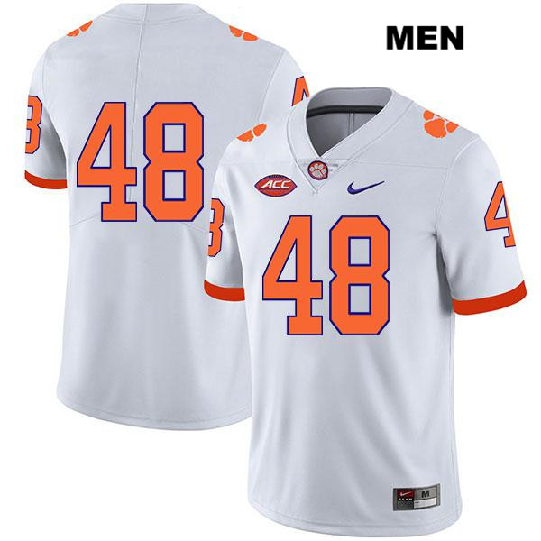 Nike David Cote Clemson Tigers Stitched no. 48 Mens White Legend Authentic College Football Jersey - No Name - David Cote Jersey
