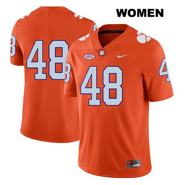 David Cote Nike Clemson Tigers Legend no. 48 Stitched Womens Orange Authentic College Football Jersey - No Name - David Cote Jersey