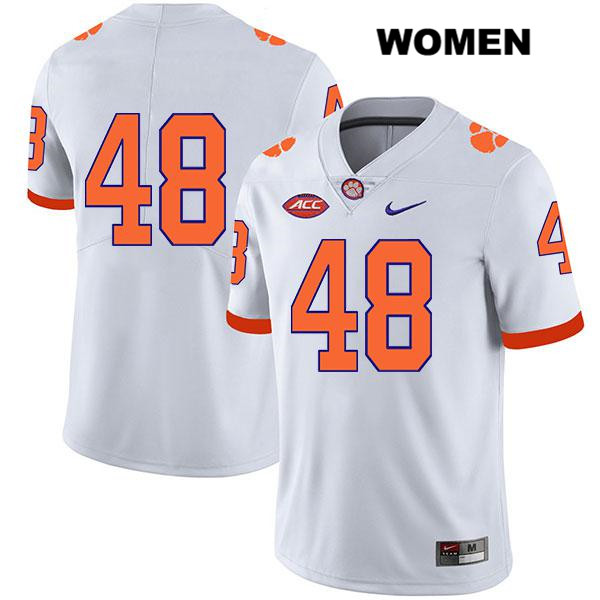 David Cote Clemson Tigers Legend no. 48 Nike Womens White Stitched Authentic College Football Jersey - No Name - David Cote Jersey