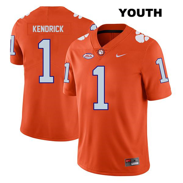 Derion Kendrick Legend Clemson Tigers no. 1 Nike Stitched Youth Orange Authentic College Football Jersey - Derion Kendrick Jersey