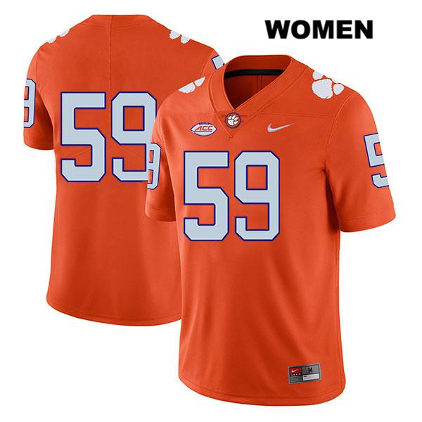 Gage Cervenka Clemson Tigers Stitched no. 59 Womens Legend Nike Orange Authentic College Football Jersey - No Name - Gage Cervenka Jersey