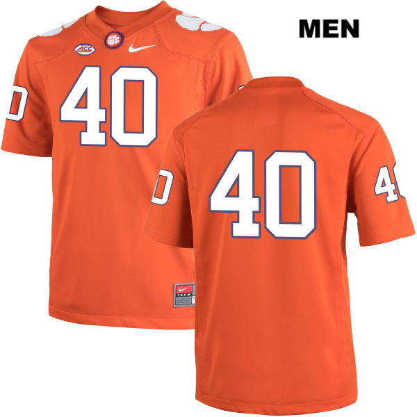 Hall Morton Nike Clemson Tigers no. 40 Stitched Mens Orange Authentic College Football Jersey - No Name - Hall Morton Jersey